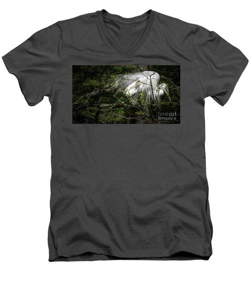 Great Egret #2 Men's V-Neck T-Shirt