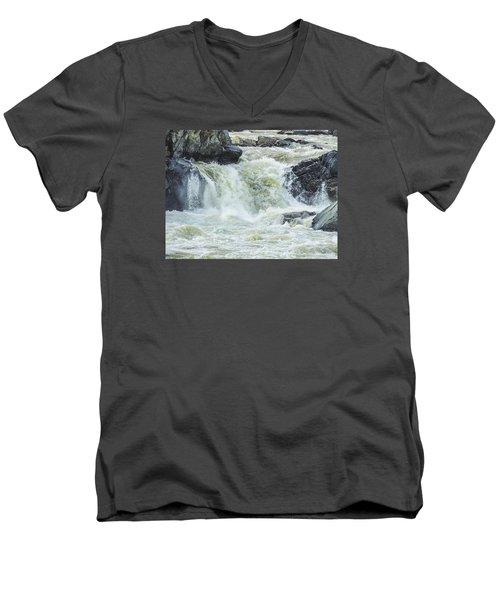 Great Falls Of The Potomac Men's V-Neck T-Shirt