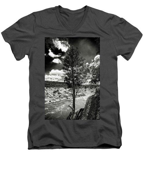 Great Falls Tree Men's V-Neck T-Shirt by Paul Seymour