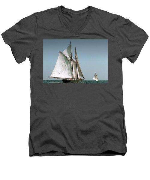 Great Gloucester Schooner Race Men's V-Neck T-Shirt