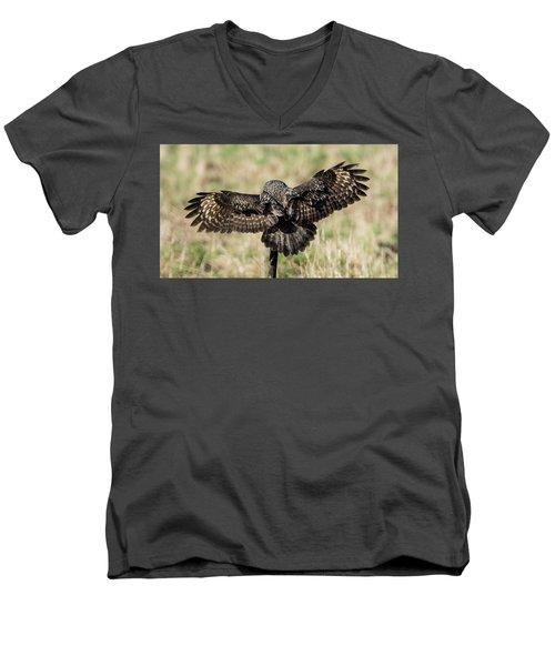 Great Grey's Back Men's V-Neck T-Shirt by Torbjorn Swenelius