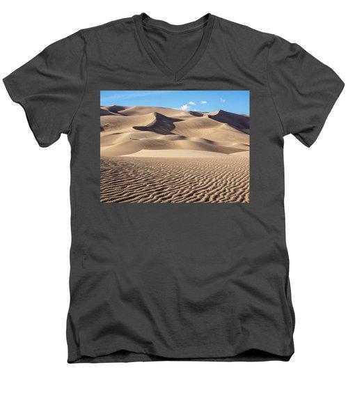 Great Sand Dunes National Park In Colorado Men's V-Neck T-Shirt