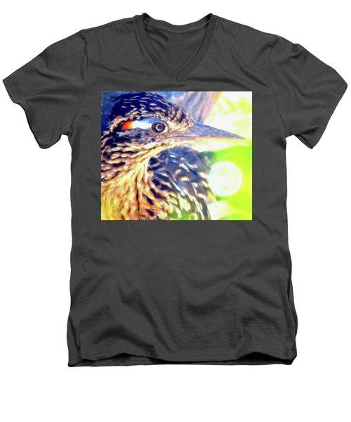 Greater Roadrunner Portrait 2 Men's V-Neck T-Shirt