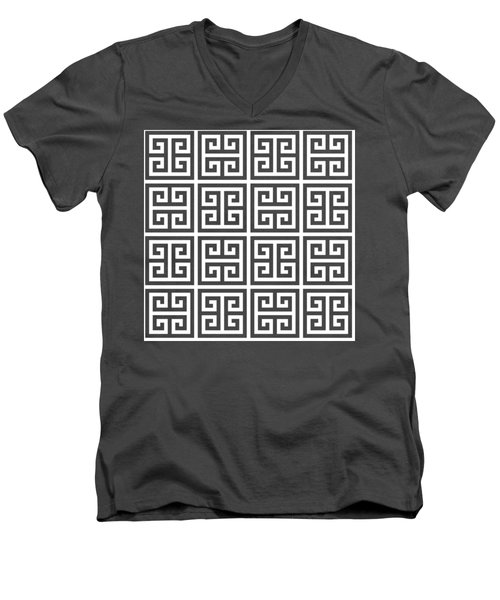Greek Pattern 2 Men's V-Neck T-Shirt
