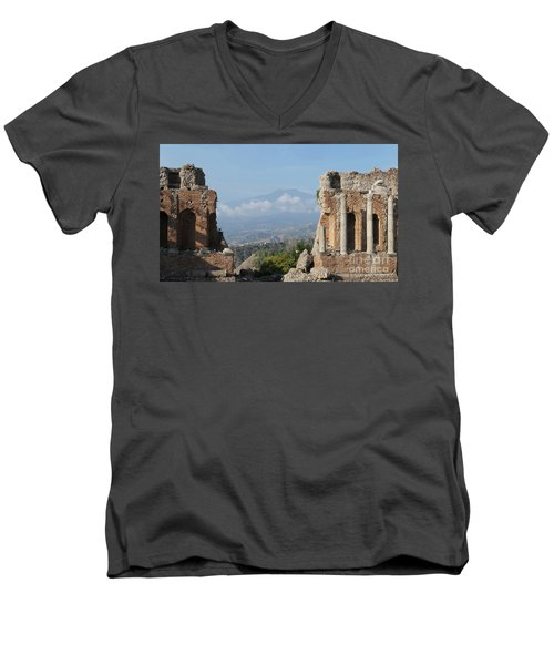 Greek Theatre Taormina Men's V-Neck T-Shirt