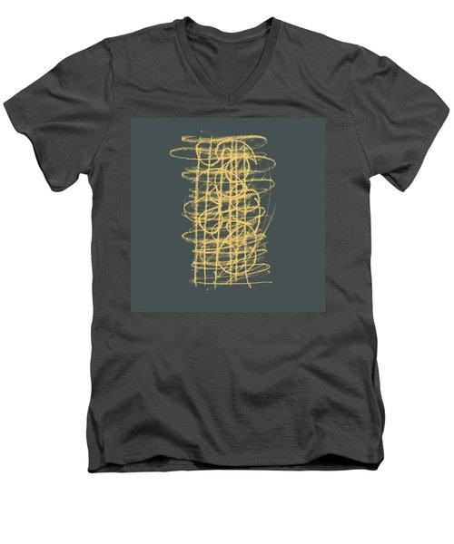 Green And Gold 1 Men's V-Neck T-Shirt