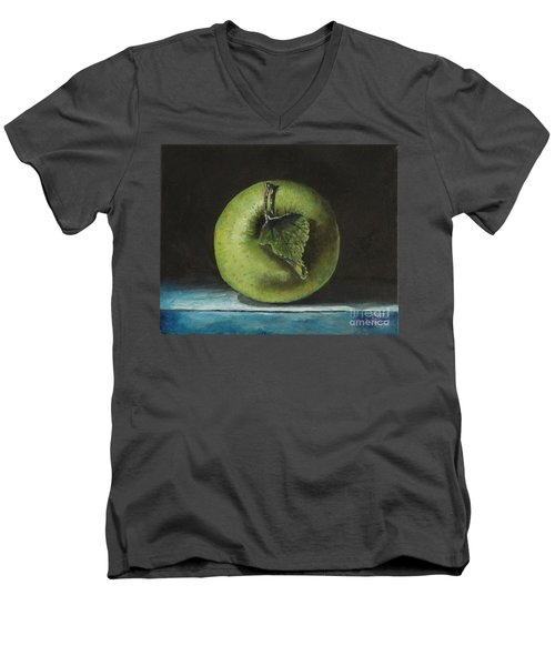 Green And Yellow Apple Men's V-Neck T-Shirt