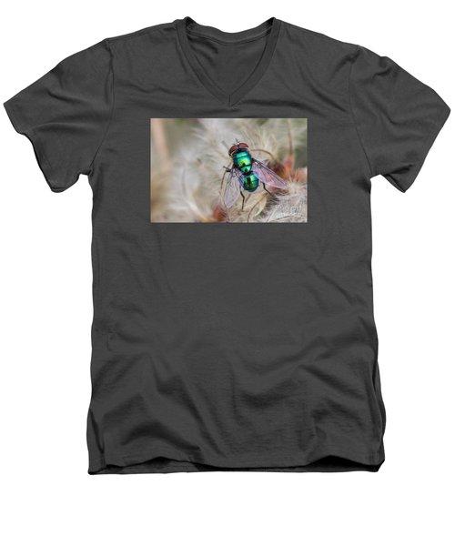 Green Bottle Fly Men's V-Neck T-Shirt