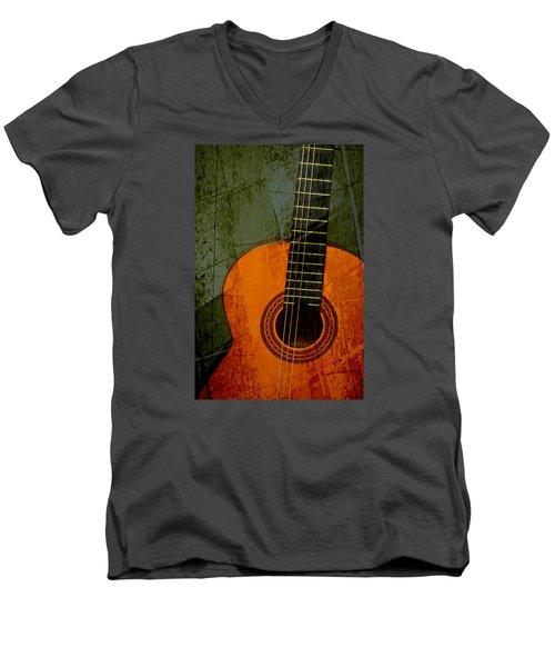 Green Canvas Men's V-Neck T-Shirt