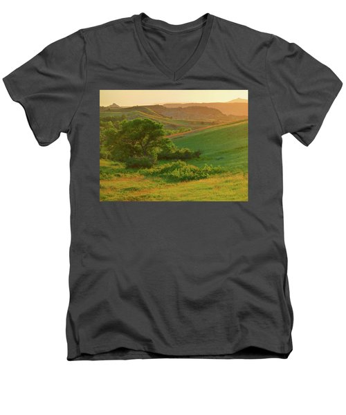 Green Dakota Dream Men's V-Neck T-Shirt