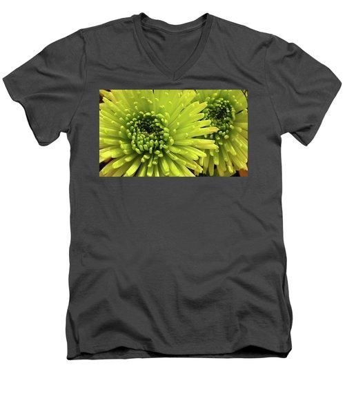 Green Delight Men's V-Neck T-Shirt