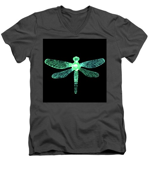 Green Dragonfly Men's V-Neck T-Shirt