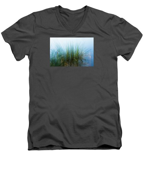Morning At The Lake Men's V-Neck T-Shirt