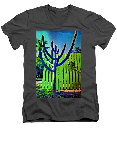Green Fence Men's V-Neck T-Shirt