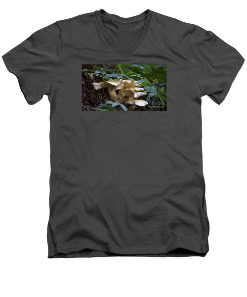 Green Forest Floor Men's V-Neck T-Shirt