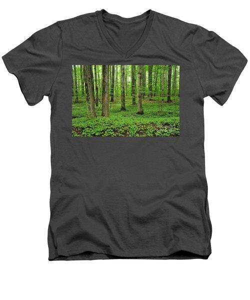 Green Forest Men's V-Neck T-Shirt