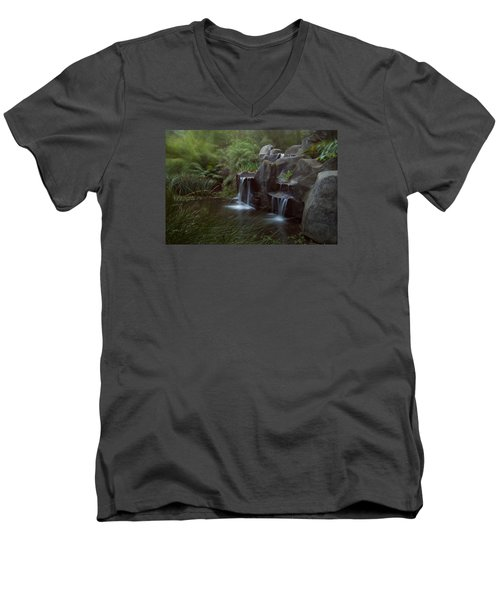 Green Garden Men's V-Neck T-Shirt by Catherine Lau