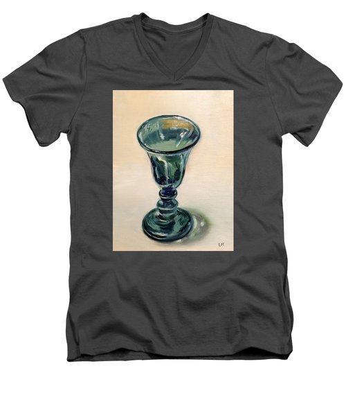Green Glass Goblet Men's V-Neck T-Shirt