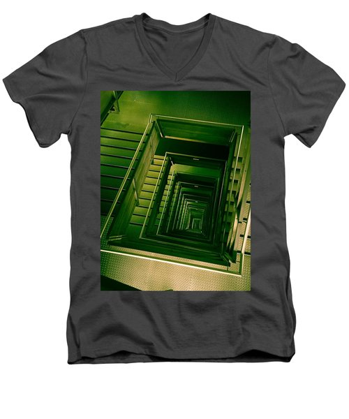 Green Infinity Men's V-Neck T-Shirt