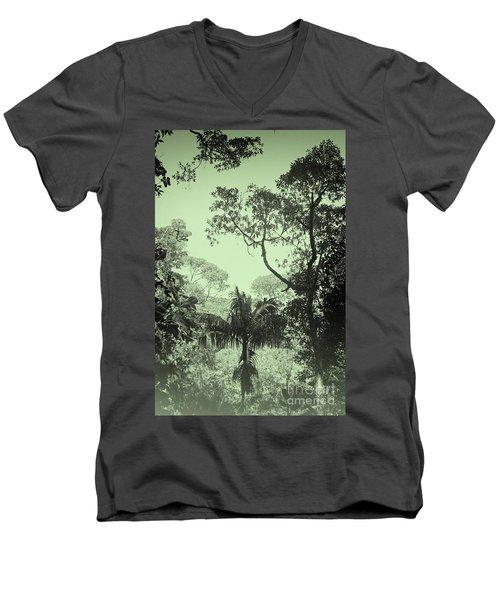 Green Jungle Men's V-Neck T-Shirt