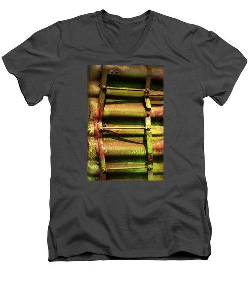Green Ladder Men's V-Neck T-Shirt by Newel Hunter
