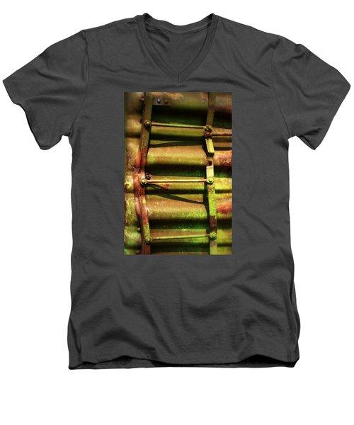 Green Ladder Men's V-Neck T-Shirt