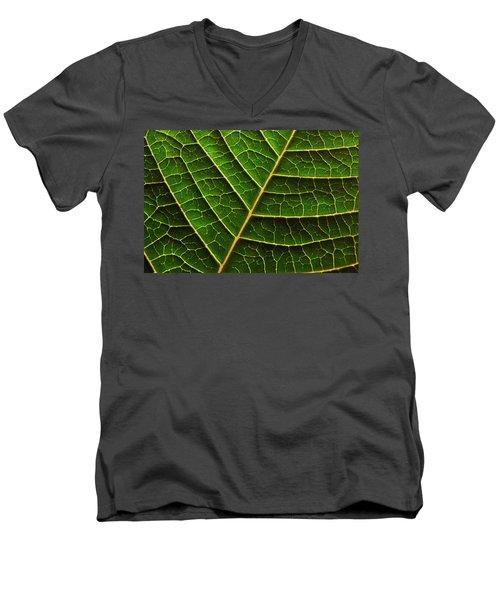 Green Leaf Macro Men's V-Neck T-Shirt