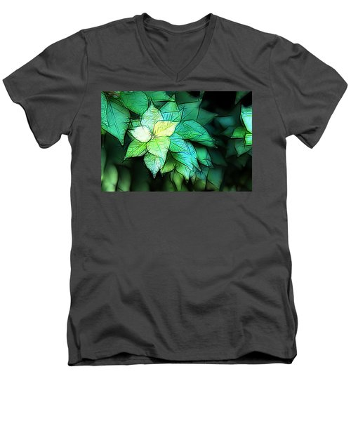 Green Leaves Men's V-Neck T-Shirt