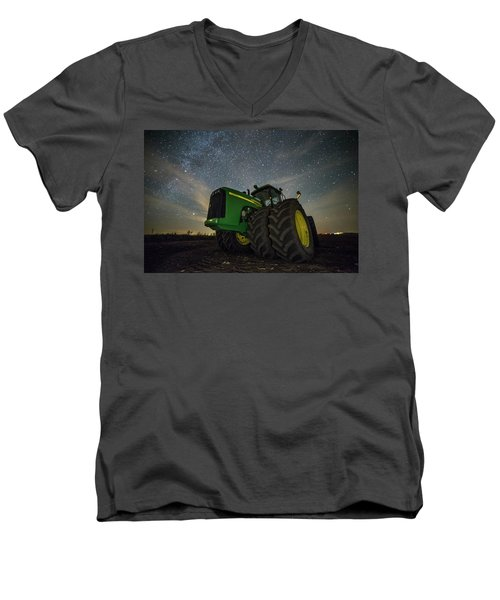 Men's V-Neck T-Shirt featuring the photograph Green Machine  by Aaron J Groen