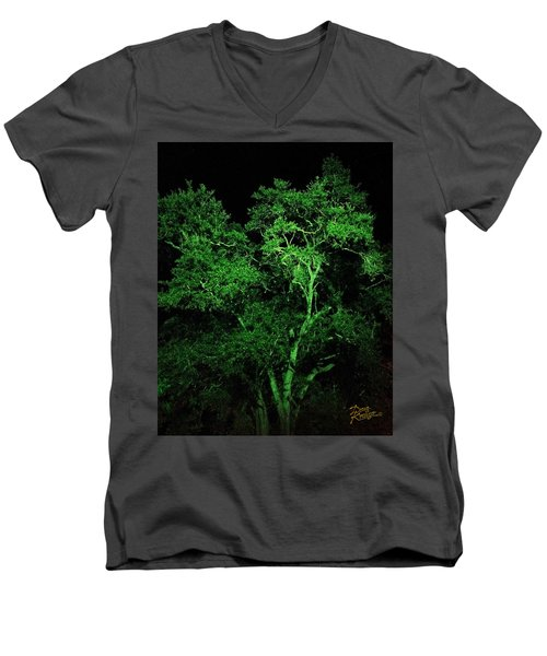 Green Magic Men's V-Neck T-Shirt by Doug Kreuger