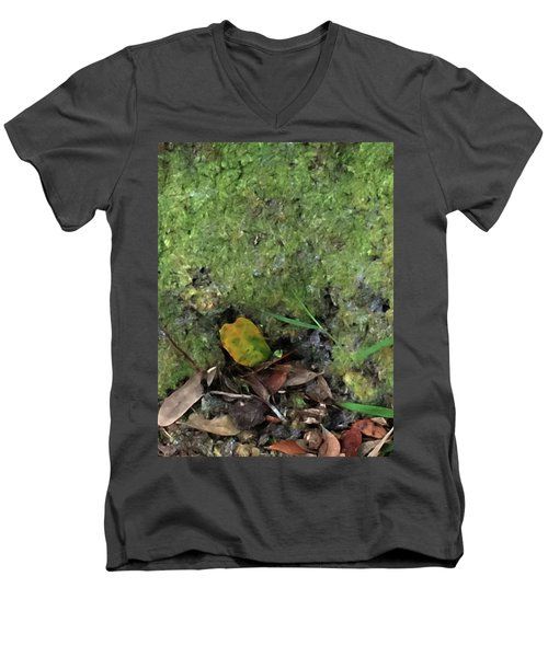 Green Man Spirit Photo Men's V-Neck T-Shirt by Gina O'Brien