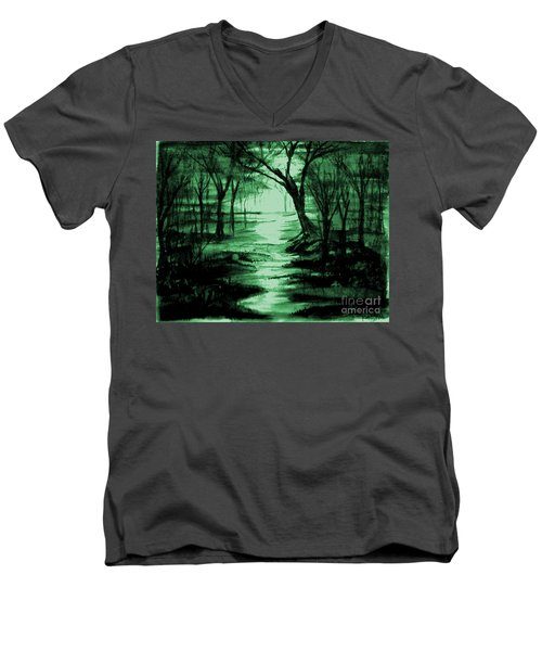 Green Mist Men's V-Neck T-Shirt