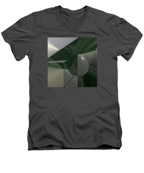 Green N Gray Men's V-Neck T-Shirt