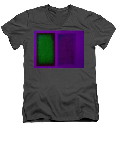 Green On Magenta Men's V-Neck T-Shirt