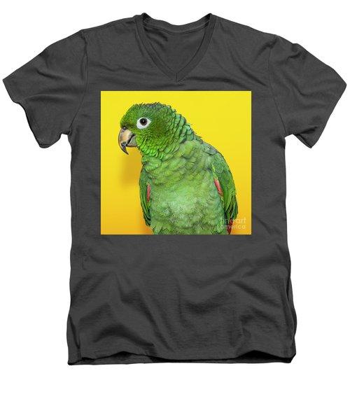 Green Parrot Men's V-Neck T-Shirt