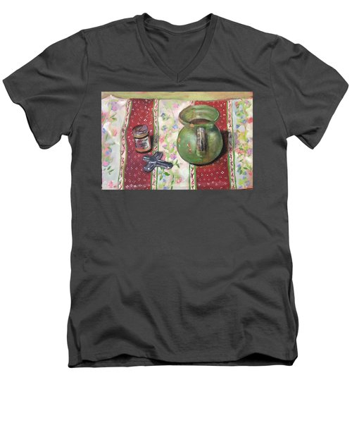 Green Pot Men's V-Neck T-Shirt