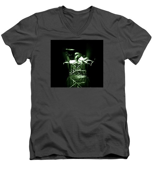Green Men's V-Neck T-Shirt by Rajiv Chopra