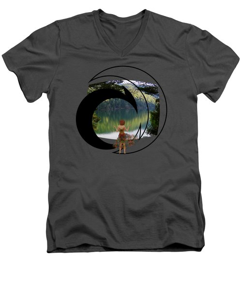 Green Reflections Men's V-Neck T-Shirt