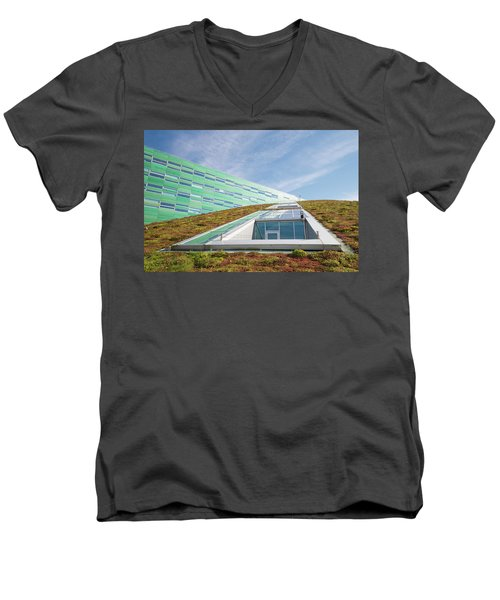 Green Roof Men's V-Neck T-Shirt by Hans Engbers