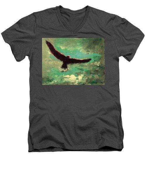 Green Sky Men's V-Neck T-Shirt