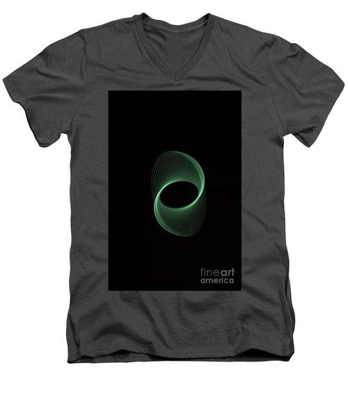 Green Spiral Men's V-Neck T-Shirt