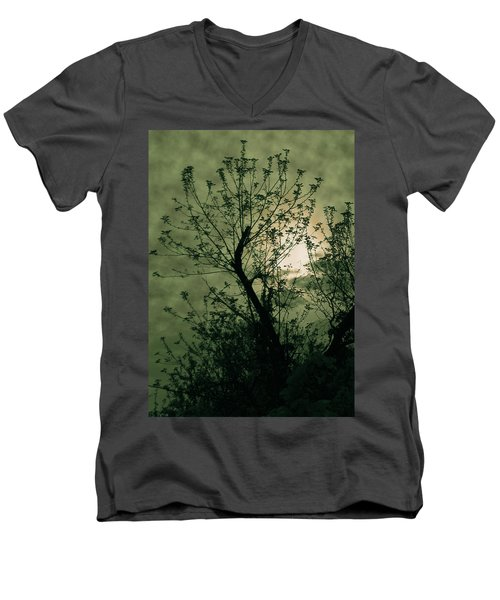 Green Sunset Men's V-Neck T-Shirt