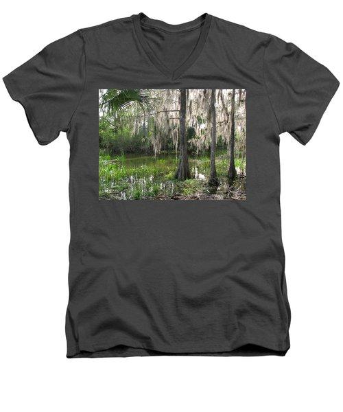 Green Swamp Men's V-Neck T-Shirt