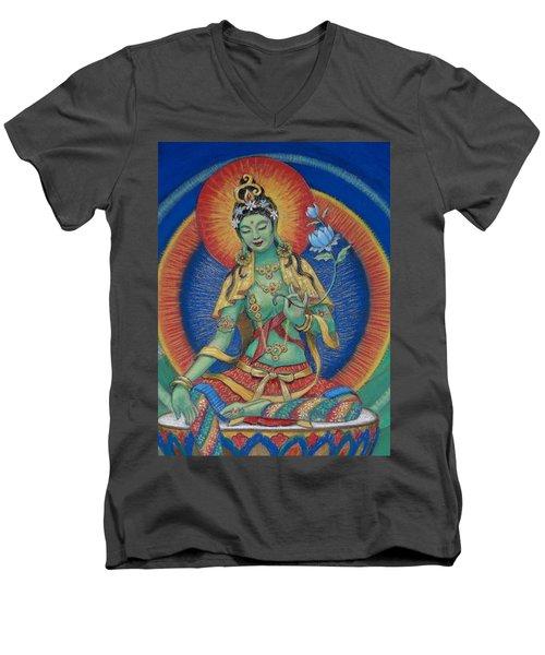 Green Tara Men's V-Neck T-Shirt