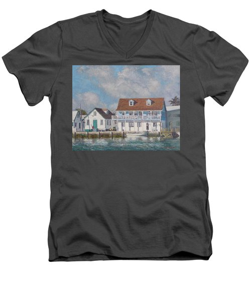 Green Turtle Cay Past And Present Men's V-Neck T-Shirt