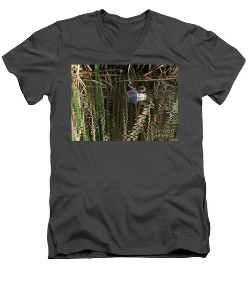 Green Winged Teal  Men's V-Neck T-Shirt