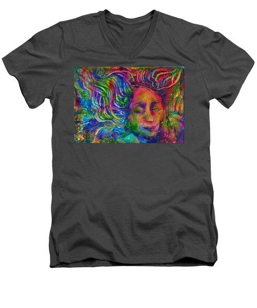 Green Woman Men's V-Neck T-Shirt