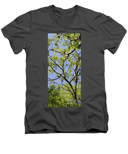 Greenery Center Panel Men's V-Neck T-Shirt
