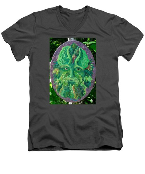 Greenman 3 Men's V-Neck T-Shirt