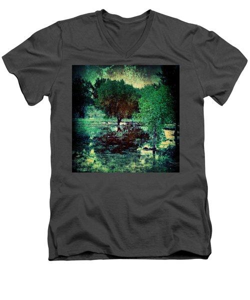 Greenscape Men's V-Neck T-Shirt